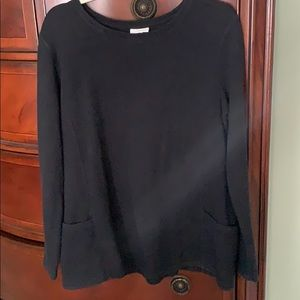 J. Jill Black Tunic Sweater
